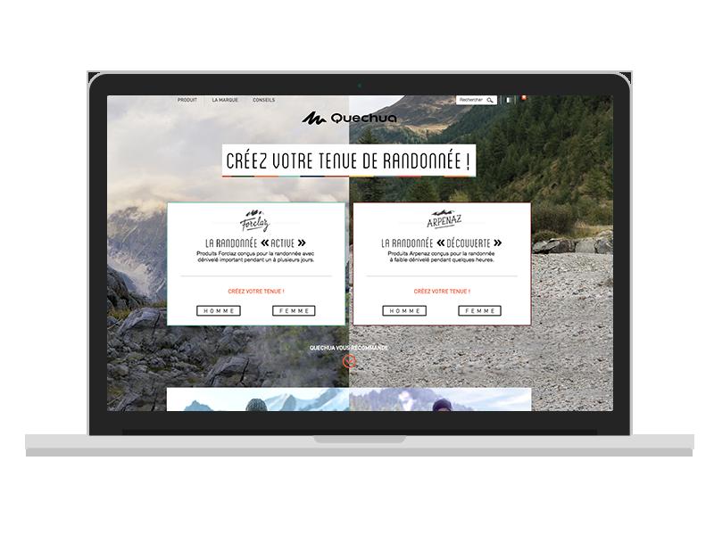 hikes choice homepage mockup