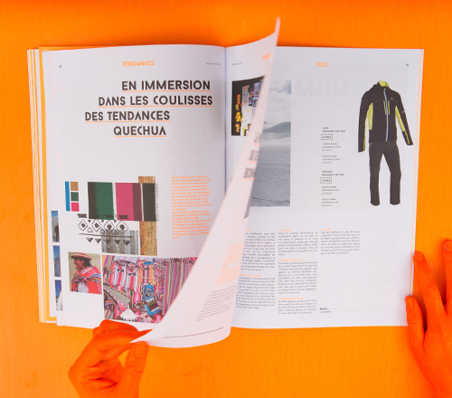 magazine article turning page